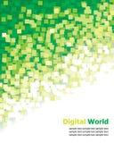 Digital Background. Vector Digital Background Green Pixel vector illustration