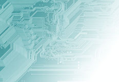Digital background. Blu background with motherboard's electronic circuit Stock Images