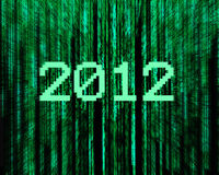 Digital background 2012. Numbers by a butcher on the year 2012 vector illustration