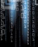 Digital Background. An illustration of a binary number background Stock Photos