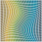 Digital background. Of squares with a twirl Stock Photos