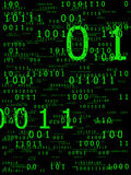 Digital background. Digital code data transmission background on black Royalty Free Stock Photography
