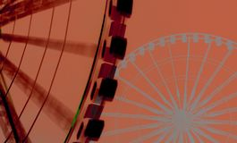 Digital background art of ferris wheels royalty free stock photos