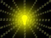 Digital Background. Binary code row as digital background Royalty Free Stock Image