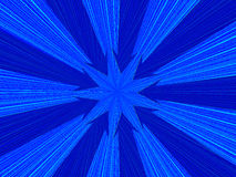 Digital background with blue arrows. 3D illustration Royalty Free Stock Images