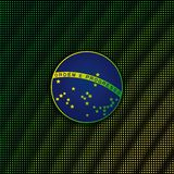Digital background with blue disc of flag Brazil Stock Photography