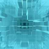 Digital background of blue glowing cubes Royalty Free Stock Images