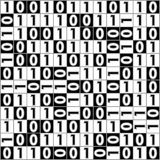 Digital background with computer thema, binary digit 1 a 0, color black and white, inverse squares with numbers Stock Images