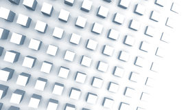 Digital background with cubes on the wall, 3d illustration Royalty Free Stock Image