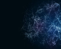 Digital background with cybernetic particles Royalty Free Stock Photos