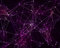 Digital background with cybernetic particles Stock Photos