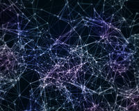 Digital background with cybernetic particles Stock Photography