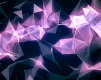 Digital background with geometric particles Royalty Free Stock Images