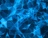 Digital background with geometric particles Royalty Free Stock Photo