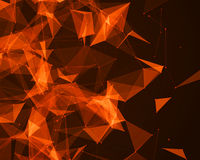 Digital background with geometric particles Stock Images