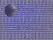 Digital background with globe. Digital background with binary globe  illustration Stock Photos