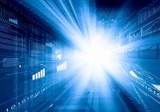 Digital background image. Digital blue background image with technology symbols Stock Photography