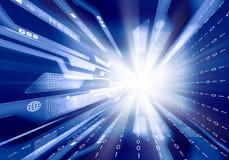 Digital background image. Digital blue background image with technology symbols Royalty Free Stock Photos