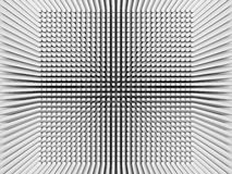 Digital background with invert perspective 3d square pattern. Abstract digital background with invert perspective square pattern on white wall, 3d illustration vector illustration
