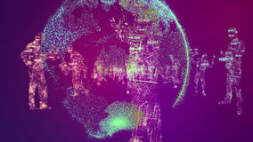 Globe Background, Digital Particles Royalty Free Stock Photography