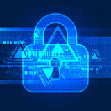 Digital background online protection Stock Photo