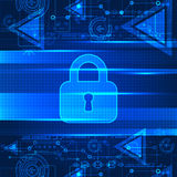 Digital background online protection Royalty Free Stock Photo