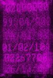 Digital bakgrund - binära nummer och programmeraanvisningar Royaltyfri Bild