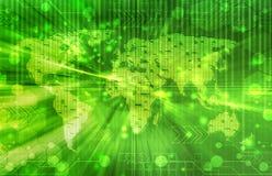 Digital bakgrund för grön värld Royaltyfri Bild