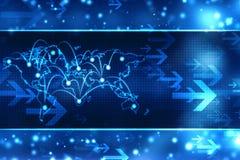 Digital bakgrund, futuristisk bakgrund, affärsbakgrund stock illustrationer