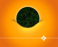 Digital Ball. Royalty Free Stock Images