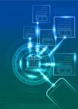 Digital bankrörelsen med mobiltelefon- och teknologibakgrund vektor illustrationer