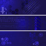 Digital banners. Set of three digital banners Stock Photo