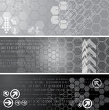 Digital banners. Set of three digital banners Royalty Free Stock Photos