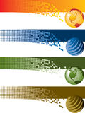 Digital Banners. In four different colors Royalty Free Stock Image