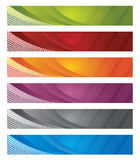 Digital banners in gradient and lines Royalty Free Stock Image