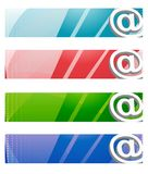 Digital banners / vector. Internet Digital banners in four different colors Royalty Free Stock Photo