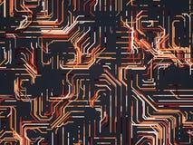Digital barwił linia abstrakta tło świadczenia 3 d Obrazy Stock
