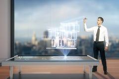 Digital-Bauvorhaben Lizenzfreie Stockbilder
