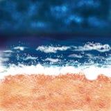 Digital beach scene background Stock Photo