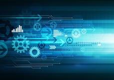 Digital-Begriffsgeschäftstechnologiehintergrund-Pfeilchip lizenzfreie abbildung