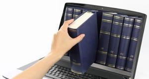 Digital-Bibliothek Lizenzfreie Stockfotos
