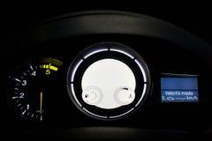 Digital bilinstrumentbräda Arkivbild