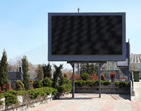 Digital billboard. Empty black digital billboard screen for advertising royalty free stock photography