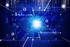 Digital-binär Code-Zusammenfassungs-Hintergrund Lizenzfreie Stockbilder