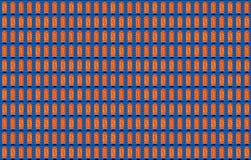 1-0 Digital binär kod, analoga lampor, skärm royaltyfri illustrationer
