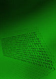 Digital-binärer Code-Hintergrund Stockfotos