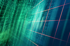 Digital binary code background with Multiple Grid Lines Concept. Digital binary code background with Multiple Grid Lines. 3d Illustration Stock Photo