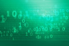 Digital binary codes background concept series. Digital binary codes background, big flat green screen with covered by digital numbers Stock Photo
