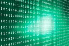 Digital binary codes background concept series. Digital binary codes background, big flat green screen covered by digital numbers Stock Images