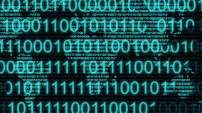 Digital binary computer data code number Internet cyberspace graphic animation. Computer digital binary code Internet cyberspace graphic animation that can be stock illustration